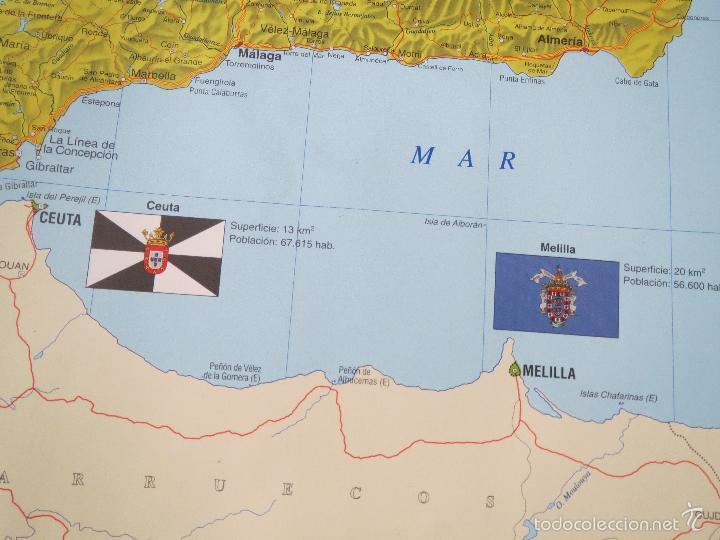 Carteles: POSTER MAPA ESPAÑA EL ESTADO AUTONOMICO EL PAIS CENTRAL HISPANO 1995 MEDIDAS 70x100 aprox AUTONOMIA. - Foto 4 - 60114283