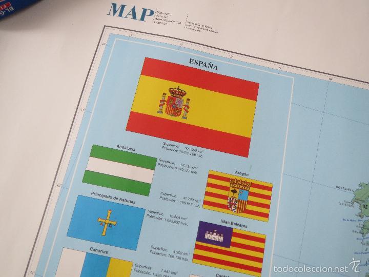 Carteles: POSTER MAPA ESPAÑA EL ESTADO AUTONOMICO EL PAIS CENTRAL HISPANO 1995 MEDIDAS 70x100 aprox AUTONOMIA. - Foto 6 - 60114283
