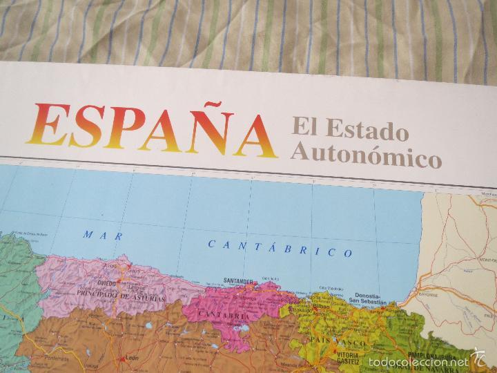 Carteles: POSTER MAPA ESPAÑA EL ESTADO AUTONOMICO EL PAIS CENTRAL HISPANO 1995 MEDIDAS 70x100 aprox AUTONOMIA. - Foto 7 - 60114283