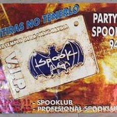 Affissi: POSTER CARTEL ORIGINAL DISCOTECA SPOOK FACTORY VALENCIA 1994 RUTA DEL BAKALAO DESTROY CERVEZA AGUILA. Lote 60562215