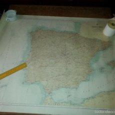 Carteles: GRAN MAPA ESPAÑA PENINSULA IBERICA - CADIZ 1969 - 115 X 86 CM - ESCALA 1: 1.500.000. Lote 60981079