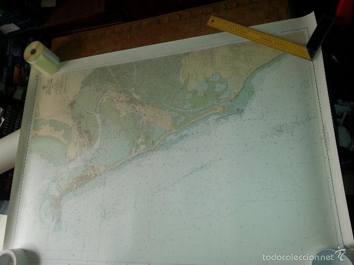 Carteles: gran mapa bahia de cadiz - cadiz 1973 - 115 x 86 cm - hoja 2 - Foto 2 - 60981507