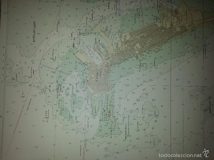 Carteles: gran mapa bahia de cadiz - cadiz 1973 - 115 x 86 cm - hoja 2 - Foto 4 - 60981507
