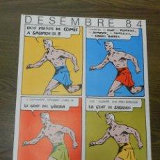 Carteles: CARTEL EXPOSICION COMIC A SABADELL AÑO 1985. Lote 62253512