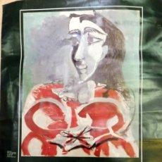 Carteles: CARTEL EXPOSICION PICASSO, BARCELONA, 1971, DE PABLO A JACQUELINE, 48X69 CMS. Lote 63337840