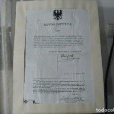 Carteles: INTERESANTE BANDO IMPERIAL NAPOLEON, SOMATENS, SANTPEDOR, MANRESA SALLENT, IGUALADA. Lote 65063631