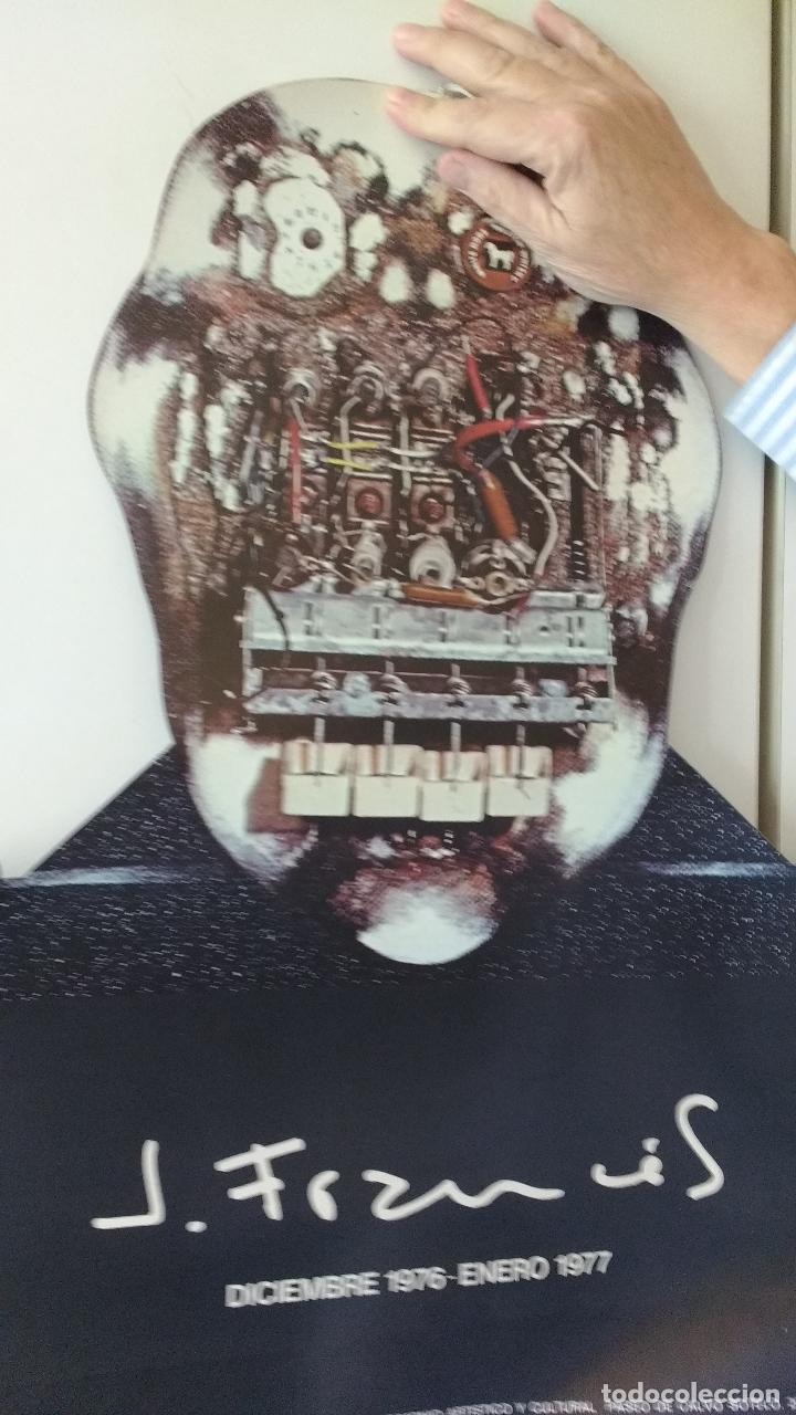RARO CARTEL TORNEADO A DOS CARAS, EXPOSICION GALERIA DE J.FRANCES. 1977,1978 (Coleccionismo - Carteles Gran Formato - Carteles Varios)