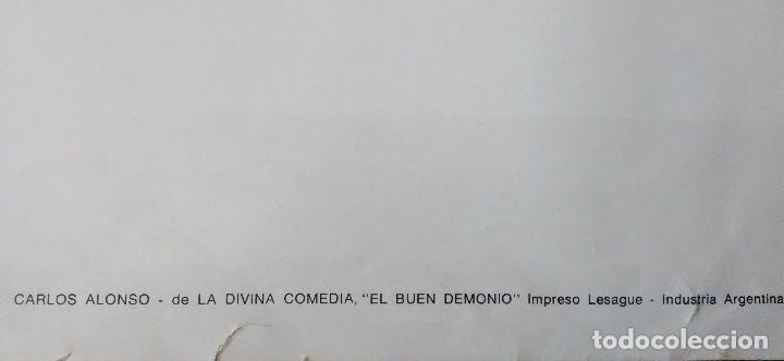 Carteles: CARTEL PINTOR ARGENTINA, CARLOS ALONSO, AÑOS 70, DE LA DIVINA COMEDIA EL BUEN DEMONIO - Foto 2 - 66762266