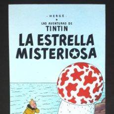 Carteles: POSTER TINTIN CARTEL DE PUBLICIDAD LA ESTRELLA MISTERIOSA HERGÉ EDITORIAL JUVENTUD. Lote 66919710