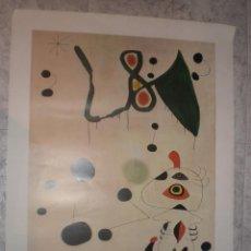 Carteles: LITOGRAFIA MIRO MUJER Y PAJARO EN LA NOCHE. Lote 68785445