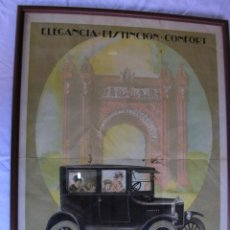 Carteles: CARTEL . COCHE ANTIGUO. FORD. 1930. ORIGINAL. 38 X 53 CM . SIN PRISA .TO BE NOT IN A HURRY .. Lote 69053885