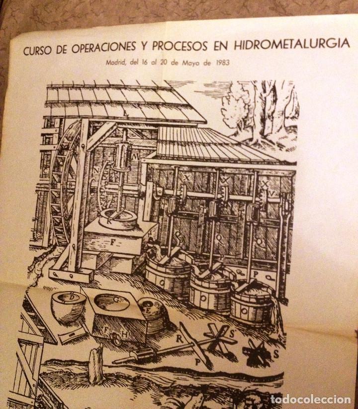 Carteles: CARTEL antiguo sobre HIDROMETALURGIA- Unico- 1983- - Foto 2 - 70025057