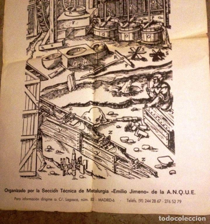 Carteles: CARTEL antiguo sobre HIDROMETALURGIA- Unico- 1983- - Foto 3 - 70025057