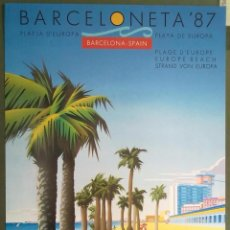 Carteles: BARCELONETA 87 PLAYA DE EUROPA CREACION Y DISEÑO CEGE DIBUJO J. CIURO 32 X 46 CM (APROX). Lote 70141217