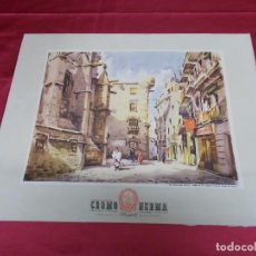 Plakate - CARTEL DE LA BARCELONA ANTIGUA: ABSIDE DE LA CATEDRAL Y ARCHIVO CORONA DE ARAGÓN. CROMOHERMA. - 70151941