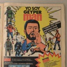 Carteles: PEQUEÑO CARTEL PUBLICITARIO GEYPER MAN. Lote 72813391