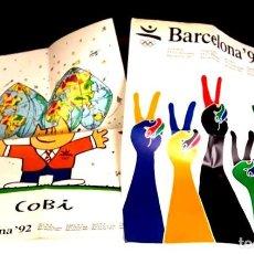 Carteles: 8331 - LOTE DE 2 PÓSTER. OLIMPIADAS BARCELONA'92. TELEFÓNICA. COOB'92 S. A. 1990.. Lote 73993155