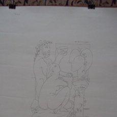 Carteles: CARTEL EXPOSICIÓN PICASO CON BELLO DIBUJO. Lote 76021239