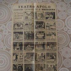 Carteles: TEATRO APOLO, L'AUCA DEL SENYOR ESTEVE, BARCELONA 1946. Lote 77607381