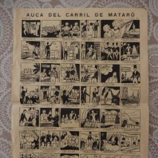 Carteles: AUCA DEL CARRIL DE MATARÓ. Lote 77608033