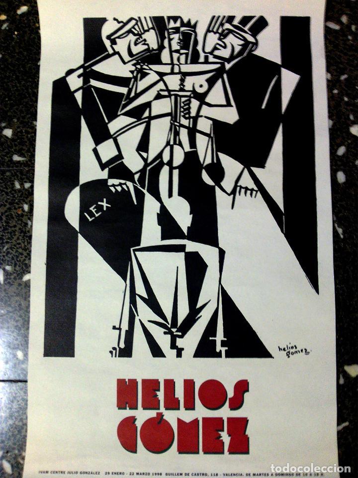 CARTEL DE EXPOSICION DE - HELIOS GOMEZ - EN EL IVAN DE VALENCIA EN MARZO DE 1998 43 X 70 CMS (Coleccionismo - Carteles Gran Formato - Carteles Varios)