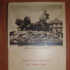 Carteles: FIESTA DE GALA. SEGUNDO CONGRESO INTERNACIONAL DEL NOTARIADO LATINO. MADRID 1950. Lote 78355277
