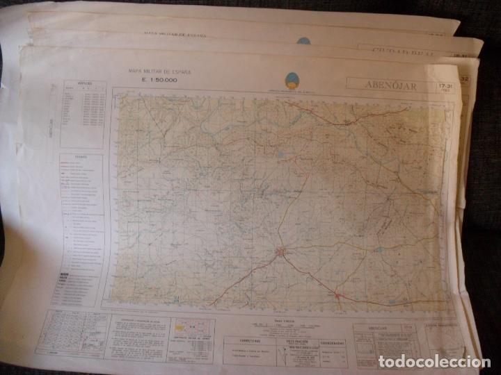 CARTEL,MAPA SERVICIO GEOGRAFICO EJERCITO ABENOJAR (Coleccionismo - Carteles Gran Formato - Carteles Varios)