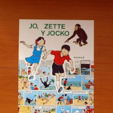 Carteles: EDITORIAL JUVENTUD - JO, ZETTE Y JOCKO - POSTER TAMAÑO 30,5X44. Lote 82439960