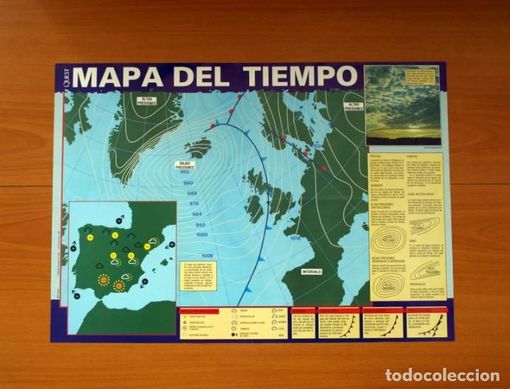 QUEST - MAPA DEL TIEMPO - EDICIONES RIALP 1989 - PÓSTER TAMAÑO 58X41 (Coleccionismo - Carteles Gran Formato - Carteles Varios)