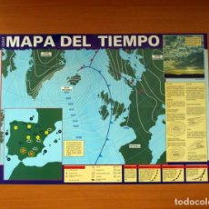 Carteles: QUEST - MAPA DEL TIEMPO - EDICIONES RIALP 1989 - PÓSTER TAMAÑO 58X41. Lote 82469244