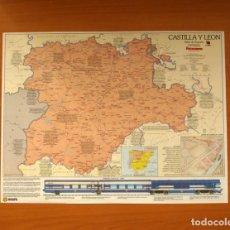 Carteles: CASTILLA Y LEÓN - ATLAS DE ESPAÑA - PANORAMA - RENFE - PÓSTER TAMAÑO 63X48. Lote 82471544