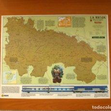 Carteles: LA RIOJA - ATLAS DE ESPAÑA - PANORAMA - RENFE - PÓSTER TAMAÑO 63X48. Lote 82471684