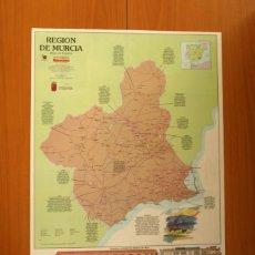 Carteles: REGIÓN DE MURCIA - ATLAS DE ESPAÑA - PANORAMA - RENFE - PÓSTER TAMAÑO 63X48. Lote 82472484