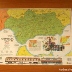 Carteles: ANDALUCÍA - ATLAS DE ESPAÑA - PANORAMA - RENFE - PÓSTER TAMAÑO 63X48 . Lote 82473184