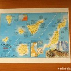 Carteles: CANARIAS - ATLAS DE ESPAÑA - PANORAMA - PÓSTER TAMAÑO 63X48. Lote 82473756