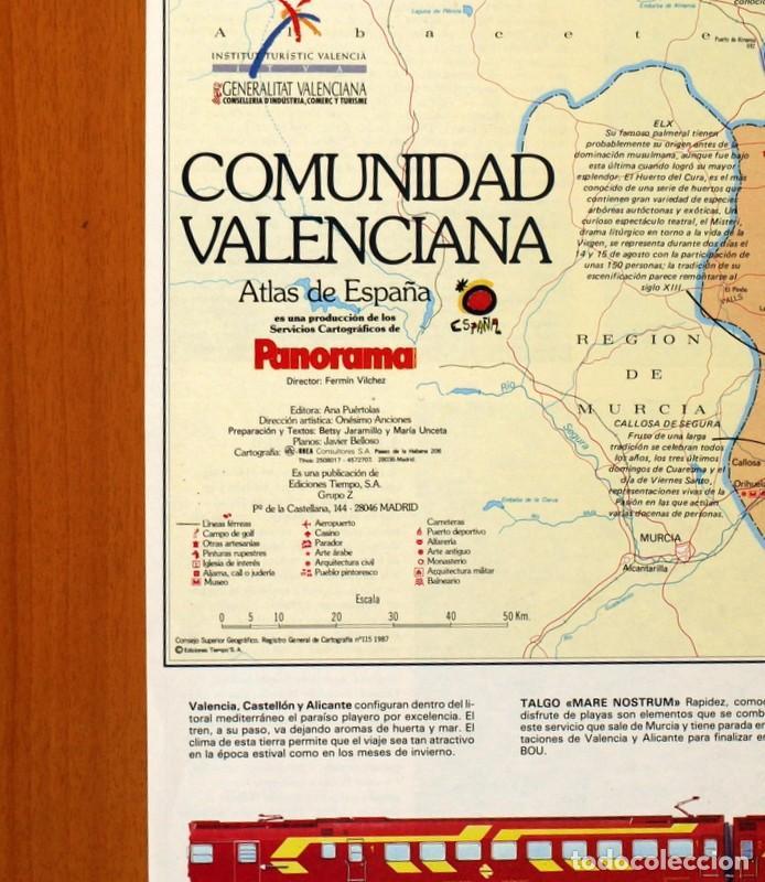 Carteles: Comunidad Valenciana - Atlas de España - Panorama - Renfe - Póster tamaño 63x48 - Foto 2 - 82473816