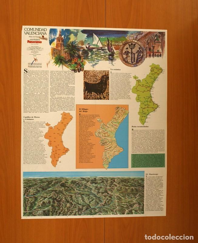 Carteles: Comunidad Valenciana - Atlas de España - Panorama - Renfe - Póster tamaño 63x48 - Foto 3 - 82473816