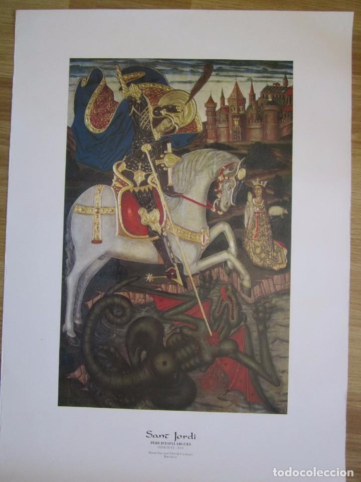 CARTEL DE SANT JORDI DE PERE D'ESPALARGUES MUSEO DE ARTE DE CATALUÑA 48X67CM SIGLO XV (Coleccionismo - Carteles Gran Formato - Carteles Varios)
