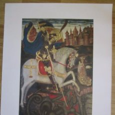 Carteles: CARTEL DE SANT JORDI DE PERE D'ESPALARGUES MUSEO DE ARTE DE CATALUÑA 48X67CM SIGLO XV. Lote 83654604