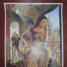 Carteles: CARTEL. 175 ANIVERSARIO DE LA CONSTITUCIÓN 1812. DISEÑO DE GUILLERMO PEREZ VILLALTA. 1987. 90,5X63,5. Lote 83910452