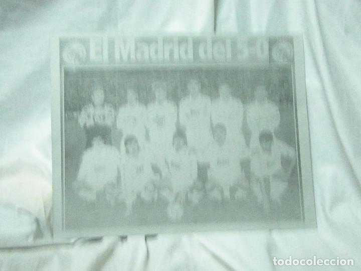 CARTEL DE CHAPA DEL REAL MADRID-5-O ,,-CHAPA-ALUMINIO (Coleccionismo - Carteles Gran Formato - Carteles Varios)