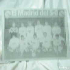Carteles: CARTEL DE CHAPA DEL REAL MADRID-5-O ,,-CHAPA-ALUMINIO. Lote 84498472