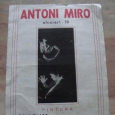 Carteles: CARTEL EXPOSICION ANTONI MIRO 1967. Lote 84744804