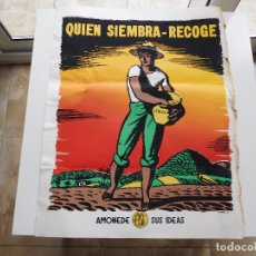 Carteles: CARTEL QUIEN SIEMBRA RECOGE. CREOLE PETROLEUM CORPORATION VENEZUELA. Lote 84824096