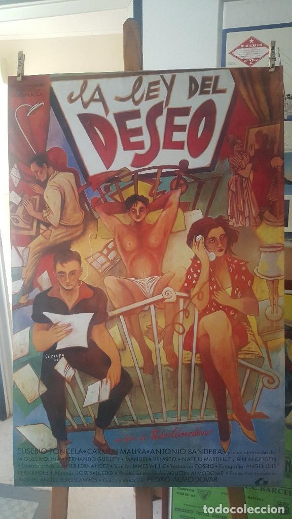 CARTEL, LA LEY DEL DESEO, LAMINA AFICHE - 100X70 CM. IMPECALE (Coleccionismo - Carteles Gran Formato - Carteles Varios)