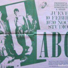 Carteles: ABC. CARTEL CONCIERTO EN STUDIO 54 BARCELONA 1983. Lote 85474760