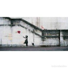 Carteles: LAMINA DE GRAFFITI - BANKSY - SIEMPRE HAY ESPERANZA - 120X60 CM.. Lote 86433552