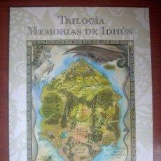 Carteles: CARTEL PROMOCIONAL «TRILOGÍA MEMORIAS DE IDHÚN - SM». Lote 86590800