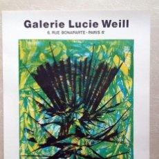 "Carteles: JIMMY ERNST – ""GALERIE LUCIE WEILL"" 1973. Lote 87003588"