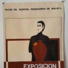 Carteles: CARTEL EXPOSICIÓN DE PIEZAS DE CERÁMICA - TALLER HOSPITAL PSIQUIATRICO DE MÁLAGA. Lote 87217224